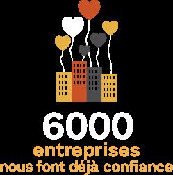 6000 entreprises nous font confiance