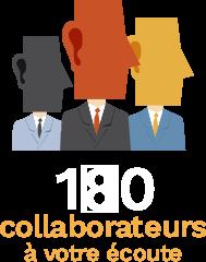 170 collaborateurs à votre écoute