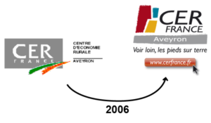 évolution logos Cerfrance