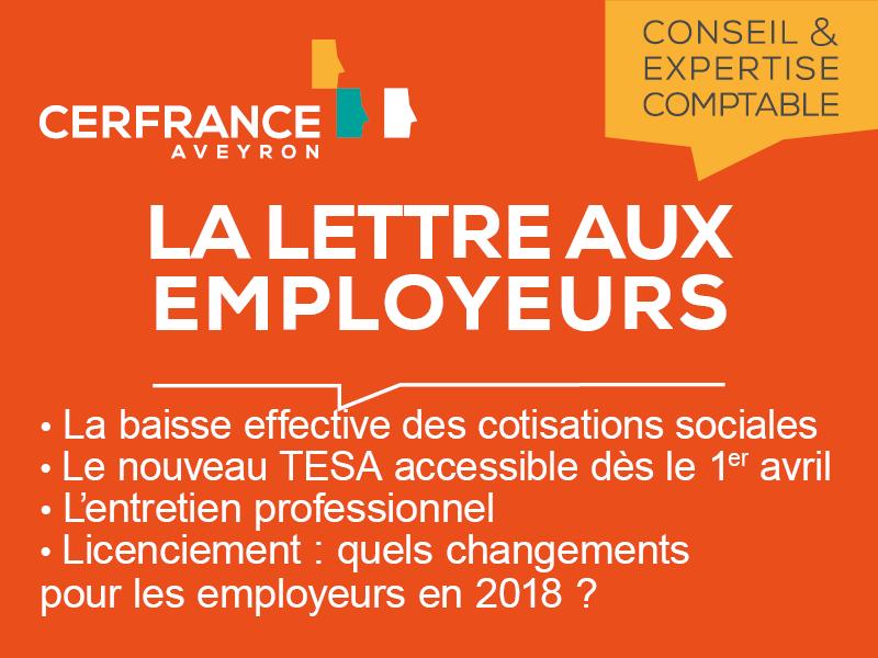 Lettre aux employeurs Février 2018