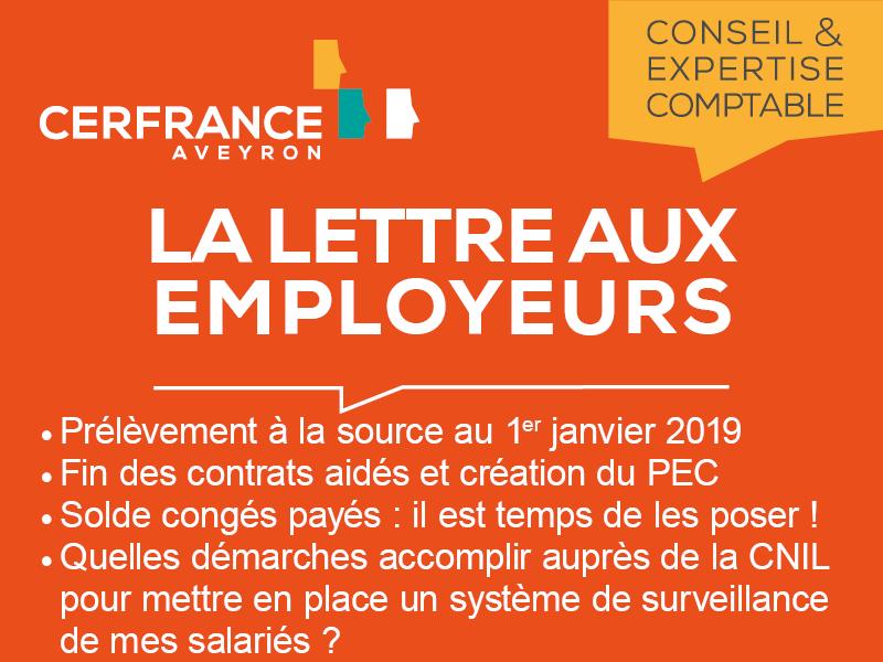 Lettre aux employeurs Mars 2018