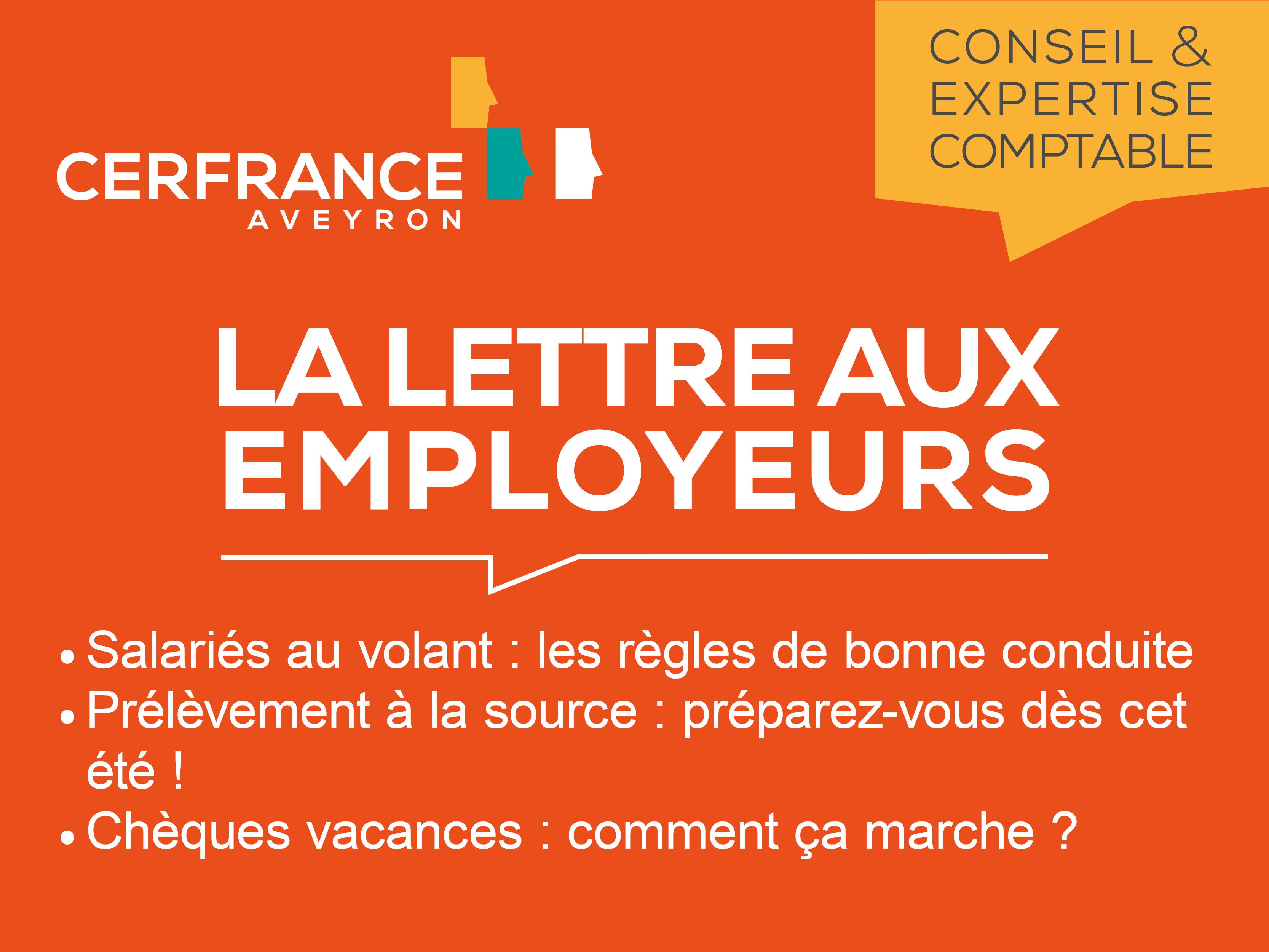 Lettre aux Employeurs - Juillet 2018