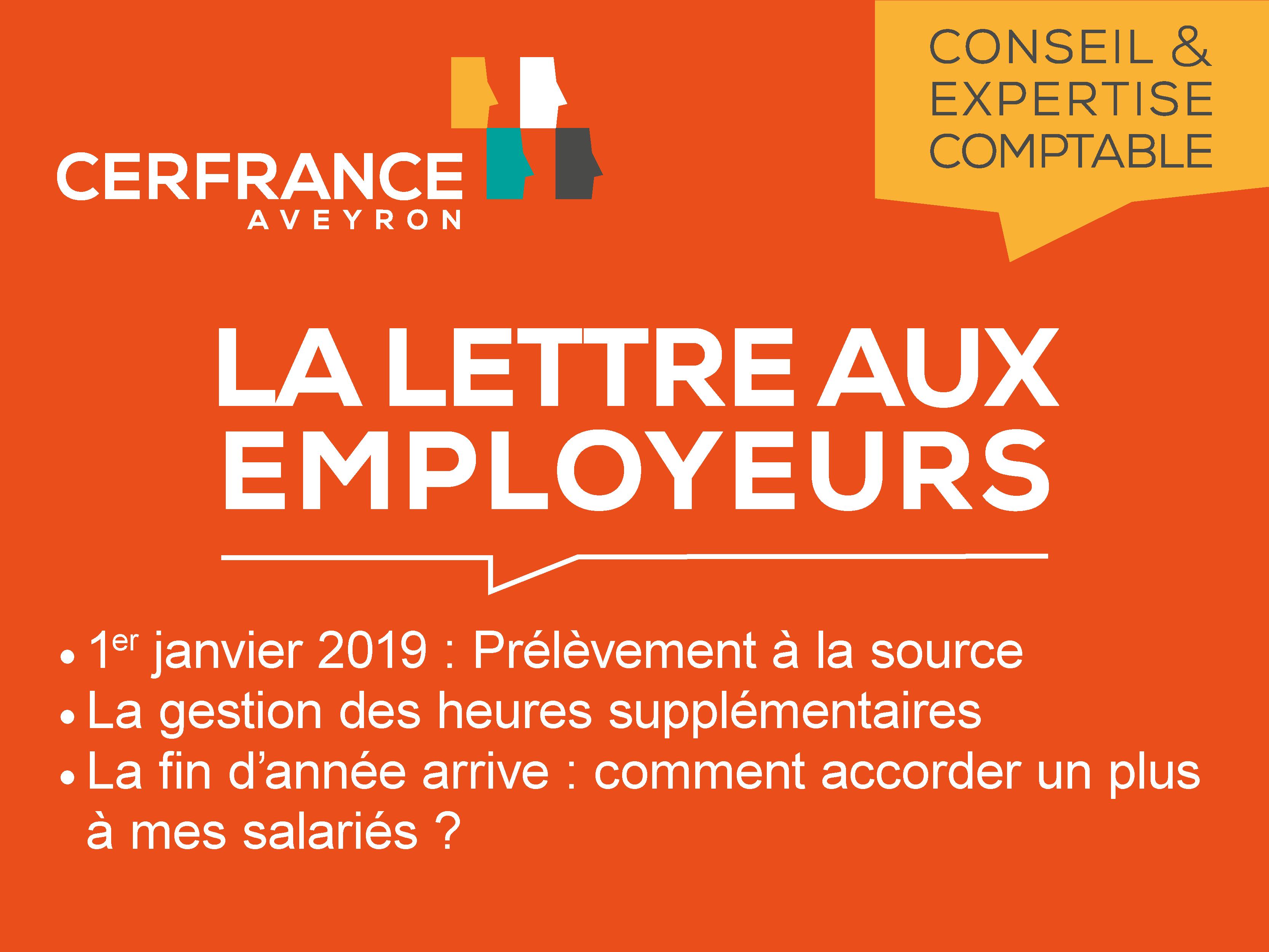 Lettre aux employeurs - Octobre 2018